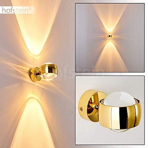 Effekt-Wandlampe Sapri - Kugelförmige Wandleuchte mit Lichteffekten - Wandspot aus Metall und Linsen aus Glas - Wand Lampe mit tollen Lichteffekten