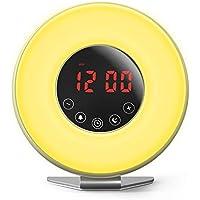 YU-UO Intelligentes Natürliches Lichtwecker LED Wecker Wake Up Light Sonnenaufgang Und Sonnenuntergang Simulation... preisvergleich bei billige-tabletten.eu