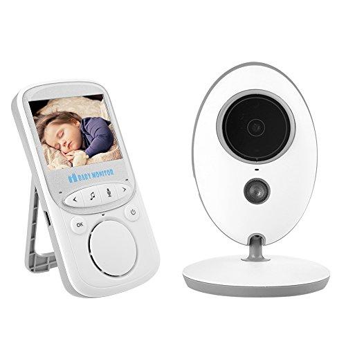 Mbuynow Baby Monitor Wireless 2' Lcd Display a Colori Telecamera CMOS Monitore per Bambini Digitale Monitoraggio Baby con Funzione Visione NotturnaBambi (2.4 'LCD-VB605)