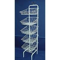 5 x Fruit & Veg Wire Basket Shop Display Unit Shopfittings & Retail Dump Bin