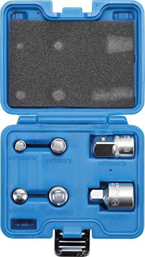 BGS Adapter-Satz Vierkantschlüssel (6-teilig, verchromter Stahl, praktischer Werkzeugsatz)  199