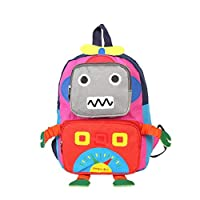 Kids Backpack Kindergarten Cartoon Schoolbag Robot With Adjustable Straps For Toddler