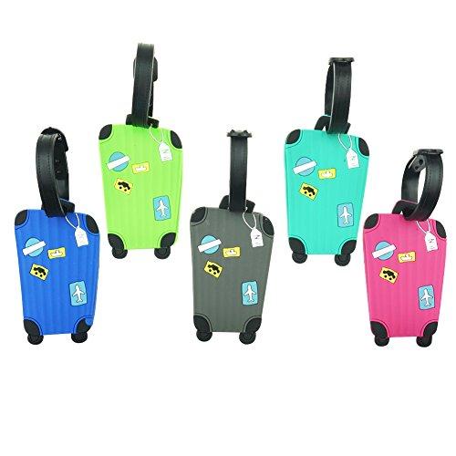 Cpano 5pcs Gepäck Tags Reise Tags ID Etiketten, Name Kartenhalter für Gepäck Taschen Koffer Rucksäcke (Farbe 1)