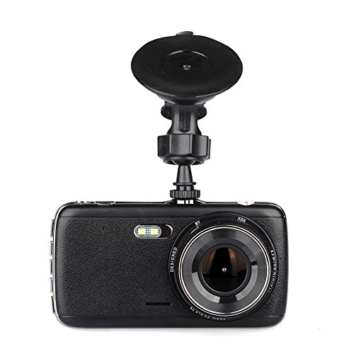 Car Driving Recorder, 4.0 Inch 1080P High-Definition 140° Wide-Angle Car Camcorder Recorder with DVR ,Loop Recording, Parking Monitoring, HDR