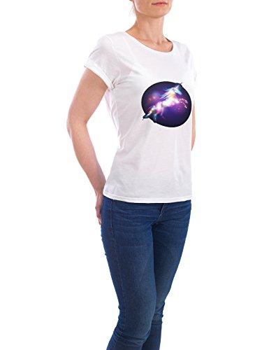 """Design T-Shirt Frauen Earth Positive """"Glitter Jump"""" - stylisches Shirt Tiere Fiktion von artboxONE Edition Weiß"""
