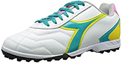 Diadora Women s Capitano LT Soccer Turf Shoes White / Teal 11 B(M) US