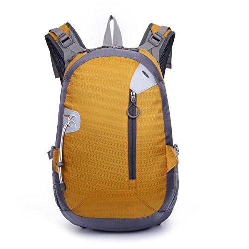 Casual All'aperto Sport Zaino Escursioni A Piedi Borsa Leggero,Purple-OneSize Yellow