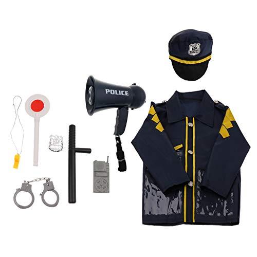 B Blesiya 9pcs Kinder Polizei Rollenspiel Set, aus Plastik