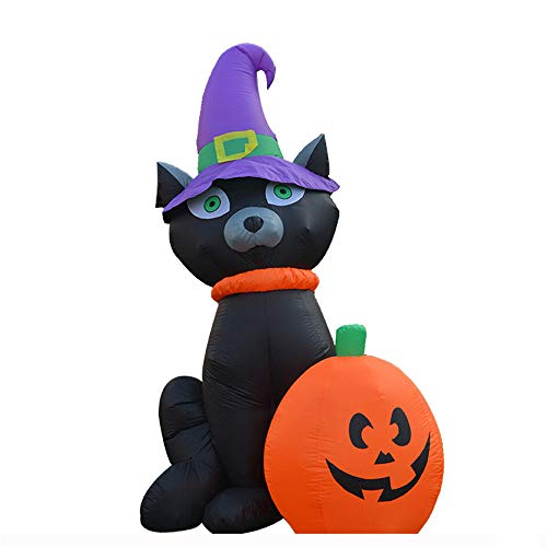LXY Halloween Horror Theme Schwarze Katze Kürbis Aufblasbar Inneneinrichtung