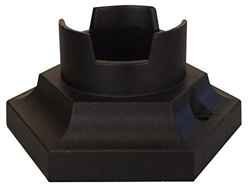 Pedestal Base (Pedestal Post Base in Black by Post Accessories)