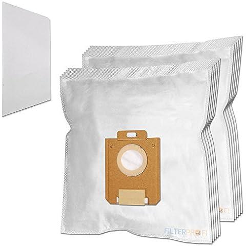 10 Sacchi / Sacchetti (Microfibra) + 1 Filtro Per aspirapolvere Electrolux Ergospace XXL Box 1 - Box 10 Sacchetti Filtro