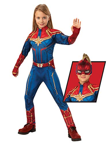 Rubie's Offizieller Captain Marvel Hero Anzug, Kinder Deluxe ()