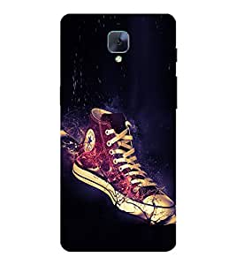 Glowing Shoe 3D Hard Polycarbonate Designer Back Case Cover for OnePlus 3T