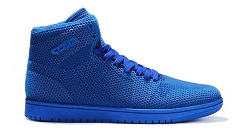 Herren Sportschuhe High Top Sneakers Basketball Freizeit Schuhe 1-1 Blau