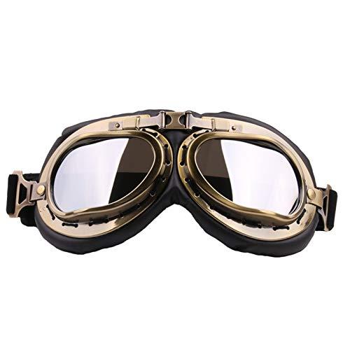 Adisaer Sonnenbrille Für Brillenträger Motorrad Brille Off Road Brille Sand Schutzbrille Retro Motorrad Helm Brille Silver Damen Herren