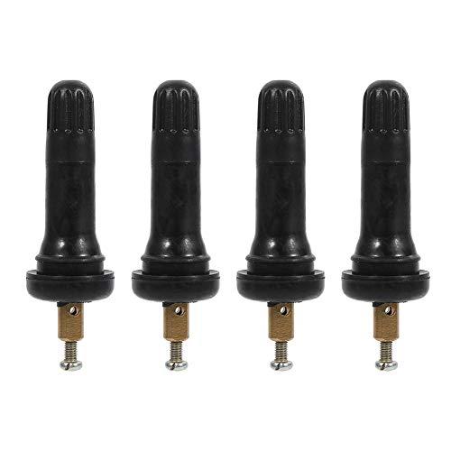 4 pezzi Snap In Tyre Valve Stems Sistema di monitoraggio della pressione dei pneumatici Sistema di valvole TPMS Stem