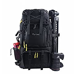 Huntvp Camera Backpack Bag Hiking Travel Backpack For All Dslr Slr Cameras , Laptops , Tripods & Accessories