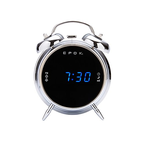 Bigben Interactive RR90EPOKS Horloge Argent Radio Portable - Radios Portables (Horloge, FM, LED,...