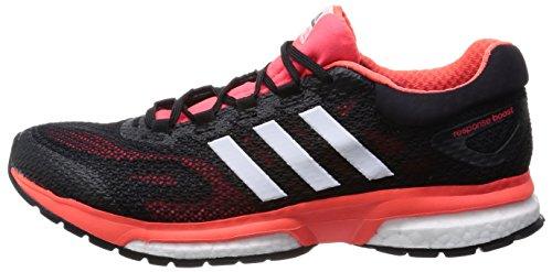 Adidas Response Boost M Scarpe da Corsa, Rosso / Bianco / Nero, 45 1/3 Rosso / Bianco / Nero