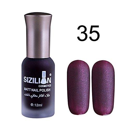 Matte Nagellack,12ml schnell trocken Nagellack lang anhaltende Nail Art Nail Polish Gel (O2)