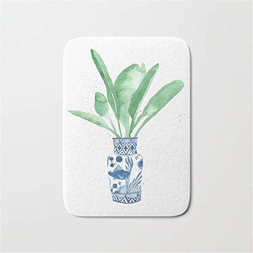 ziHeadwear Ginger Jar + Bird of Paradise Doormat Bath Door Mat (15.7 x 23.6 Inches) -
