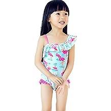 GSCH Protección contra las radiaciones niña flamenco de verano de una sola pieza traje de baño traje de baño