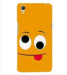 PrintVisa Smile Smiley Happy 3D Hard Polycarbonate Designer Back Case Cover for Oppo Neo 7 :: Oppo A33