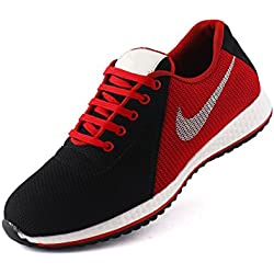 REDFOOT Unisex Red Leather Running Shoes(8)