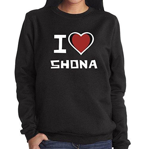 Felpa da Donna I love Shona