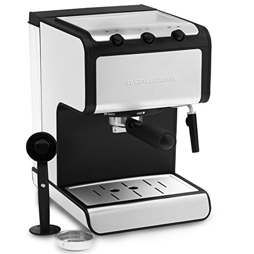 Andrew James Barista Coffee and Espresso Machine with Cup Warmer and Dual Layer Stainless Steel - Milk with Detachable Nozzle - Removable 1.4L Water Tank - 800W  Andrew James Barista Coffee and Espresso Machine with Cup Warmer and Dual Layer Stainless Steel – Milk with Detachable Nozzle – Removable 1.4L Water Tank – 800W 41PoNM3zJfL