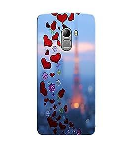 Citydreamz Love\Heart\Valentine\Pink Hard Polycarbonate Designer Back Case Cover For Lenovo K4 Note