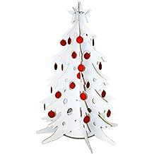 Albero di Natale in cartone con decorazioni - alt. 150 cm