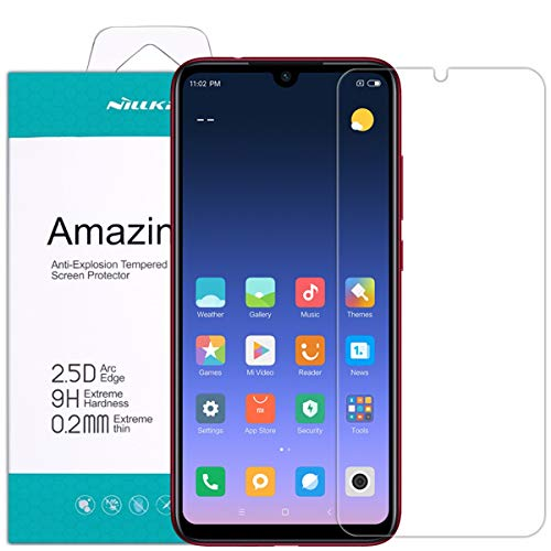 Nillkin Xiaomi Redmi Note 7 Protector de Pantalla, H+ Pro Cristal Templado [Dureza 9H] Ultrafino 0.2mm [Bordes Redondeados 2.5D] Vidrio Premium