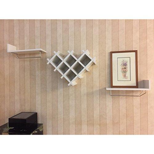 Heart-Shaped Wine Cabinet Wand-montiert Kreative Weinregal Moderne minimalistische Wand Vitrine...