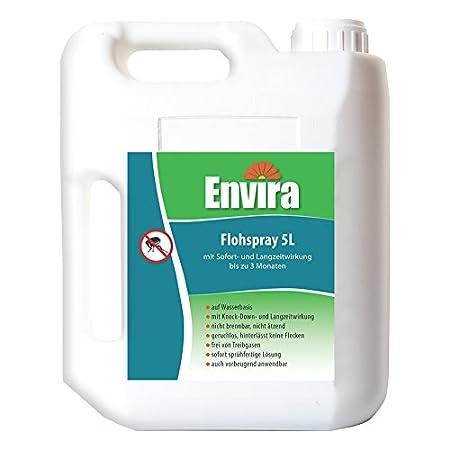 Envira Floh-Spray – Anti-Floh-Mittel Mit Langzeitwirkung – Geruchlos & Auf Wasserbasis – 5 Liter