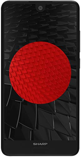 Sharp Aquos C10 Dual SIM Smartphone (12 MP Hauptkamera, 13, 97 cm (5.Zoll) Full HD Display, 64 GB interner Speicher, 4 GB RAM, Android 8.0, Fingerabdrucksensor, Face Unlock) Schwarz