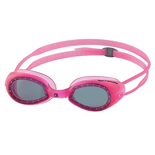 Barracuda Junior Swim Goggle HYDROXCEL- One-Piece Frame Soft Seals,Anti-Fog UV Protection, Easy Adjusting Comfortable Quick Fit No Leaking for Toddlers Children Ages 2-6 (#70720-N) (Light Grey/Pink) -