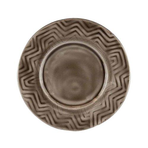 Better & Best Plato de Pan de Hierro esmaltado Redondo, con Relieve en zig Zag, de 14,5 cm de diámetro...