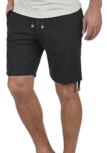 n Leinenshorts Kurze Leinenhose Bermuda Mit Kordel Regular Fit, Größe:L, Farbe:Black (999) ()