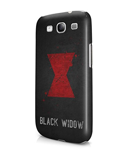 Black Widow The Avengers Grunge Plastic Snap-On Case Cover Shell For Samsung Galaxy S3