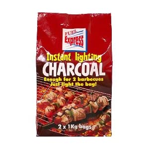 Instant Light Charcoal 2 x 1Kg Bag