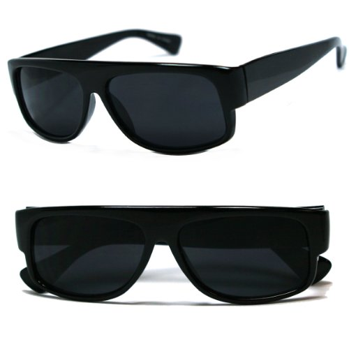Moda Old School Eazy E. Locs Hardcore Sonnenbrillen Einheitsgröße Schwarz
