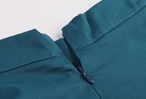 VKStar® Vintage Retro 50er Jahre Röcke Unterrock Petticoat Faltenrock S-XXL Grün
