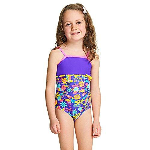 ssic Back Badeanzug Mädchen–Multicolor/violett 4 Jahre Multicolor/Purple (Jungle Girl Costume)