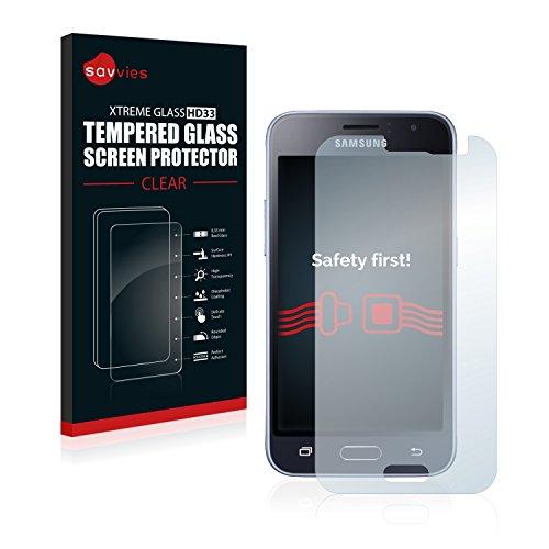 Savvies Panzerglas kompatibel mit Samsung Galaxy J1 2016 - Echtglas Schutzfolie 9H