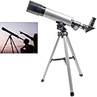AZOD Telescope, Travel Scope, 90 X Refractor Telescope, Astronomy Telescope Tabletop Nature Exploration Gifts Toys for Kids, Adults Sky Star Gazing, Birds Watching