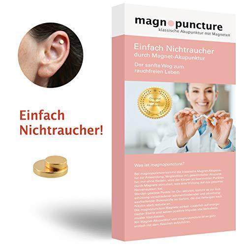 magnopuncture - Anti-Rauch-Magnet, ORIGINAL Magnet-Akupunktur, Einfach Nichtraucher - Rauchentwöhnung durch Magnet-Akupunktur, EXTRA Stressfrei-Massage-Ring