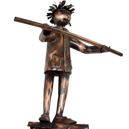 Kupferfigur Seiltänzer für die Dachrinne, 46 cm