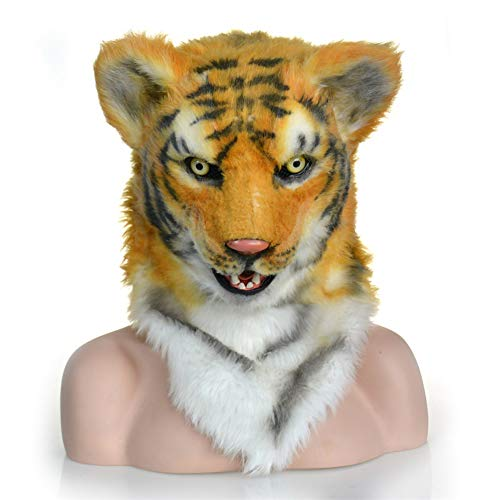 Kopf König Der Löwen Kostüm - Forart Neuheit Latex Gruselige Deluxe Tiger Löwe Pferd Maske Halloween Party Kostüm Dekorationen