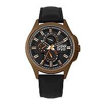 Superdry heren multi-wijzerplaat kwarts horloge met lederen armband SYG258BBRG